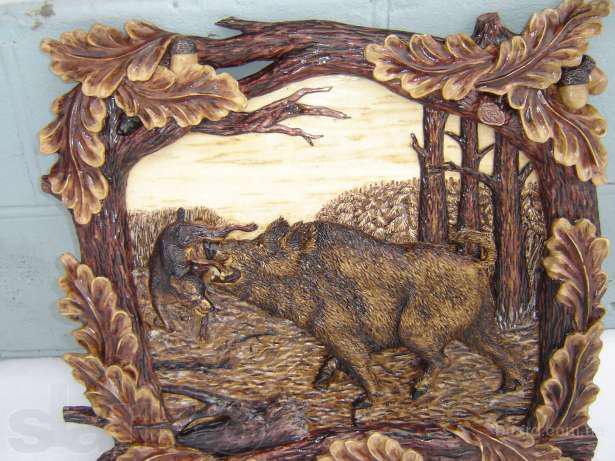 3D картины из натурального деревa