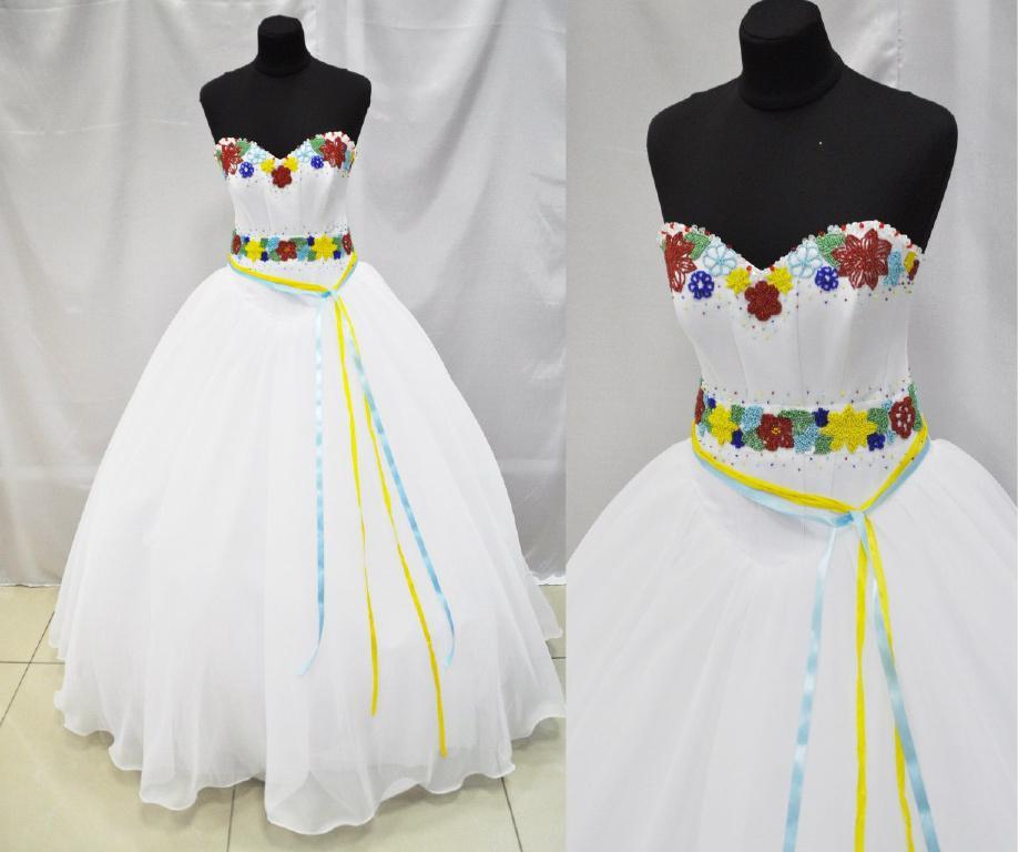 Свадебные платья в Украинском стиле под заказ на прокат.
