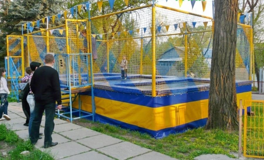 батут уличный детский купить в москве