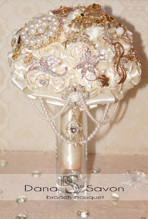 Шикарный брошь-букет для невесты от Dana Savon