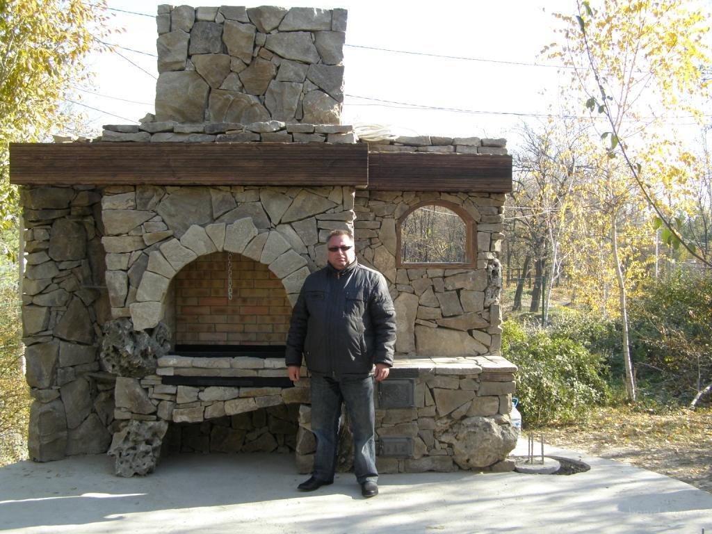 Барбекю из природного камня