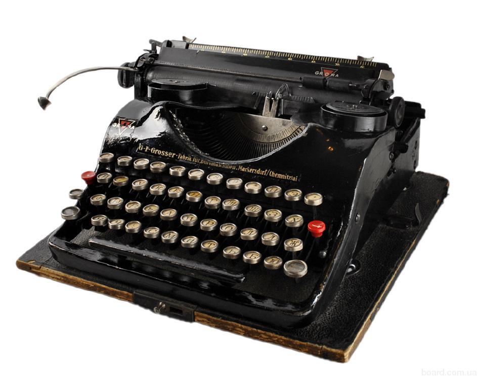 коллекционная печатная машинка довоенного периода Groma