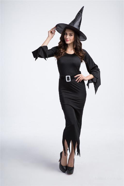 Костюм сказочной Ведьмы, длинное платье и колпак