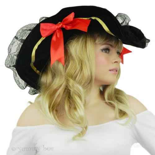 Шляпа Пиратки с кружевами и бантами