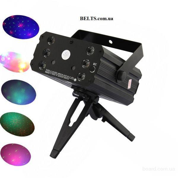 Украина.Лазерный проектор для вечеринок Mini Laser Stage Lighting, YX-036