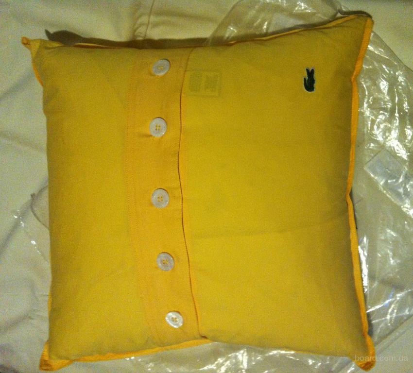 Lacoste Pillow  Фирменная подушка оригинал желтая