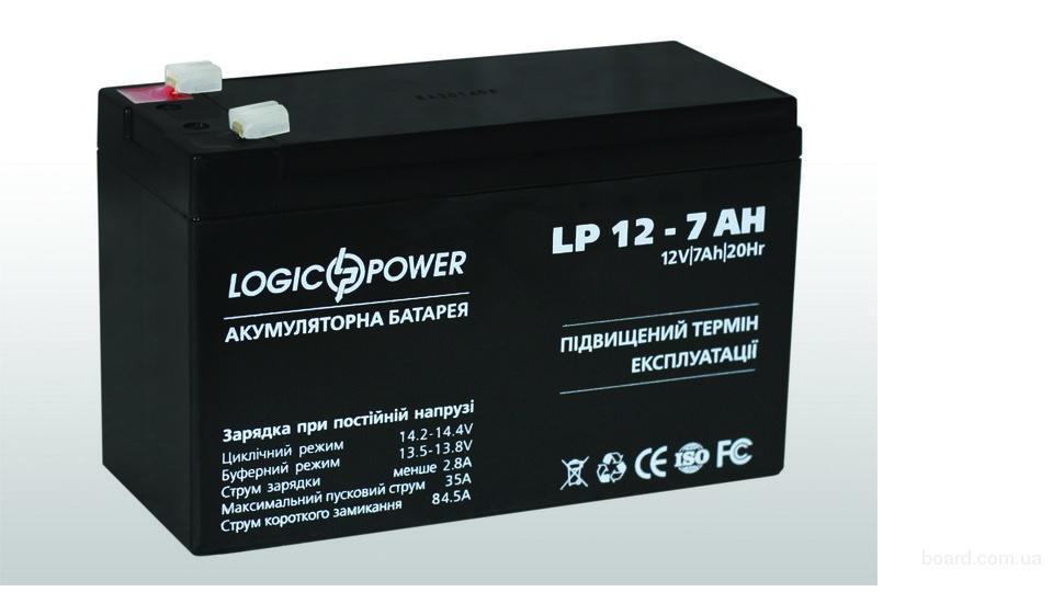 Батарея, аккумулятор для ибп (UPS) 12v 7ah 12в 7ач Logic Power новый