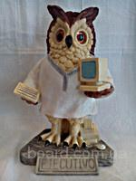 Статуэтка Сова програмист - керамика