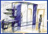Шкаф-купе встраиваемый, корпусный, гардеробный шкаф