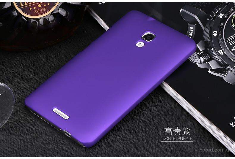Чехол пластик фиолетовый для HuaWei Mate 2
