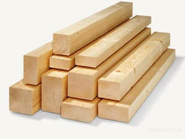 Продам брус 50 х 160 - 200 х 200 мм, длина 6 м, сосна