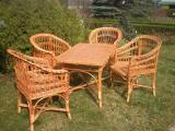 Комплект плетеная мебель лоза ручная работа 4 стула+стол эко-мебель