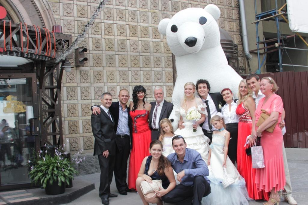 Надувной Белый Медведь на свадьбу