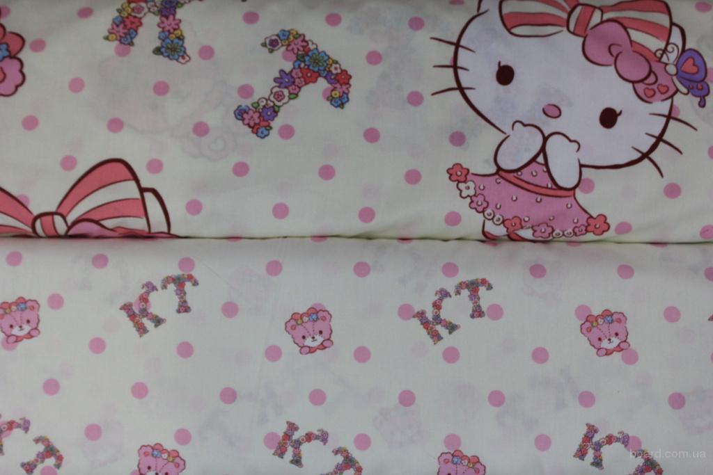 Постельное белье детское сатин, Комплект Хелло Китти Kitty Flower