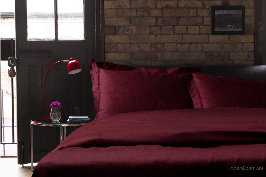 Элитное постельное белье Киев из сатина Wine Red
