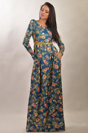 шикарные платья в пол 42-52 р