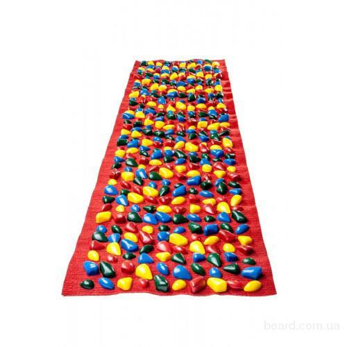 Массажный коврик ортопедический с цветными камнями 150 х 40 см