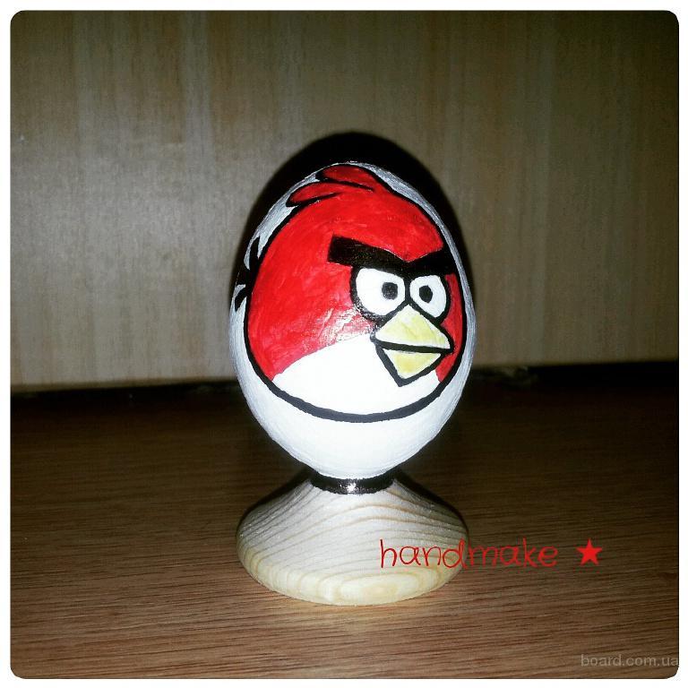 Angry bird, деревянное яйцо