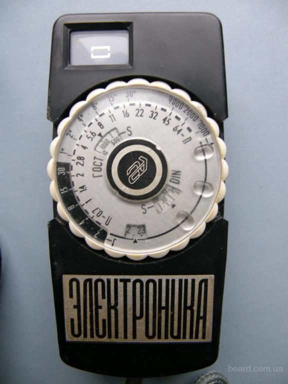 Фотоэкспонометр Электроника, производство СССР, 1975 год