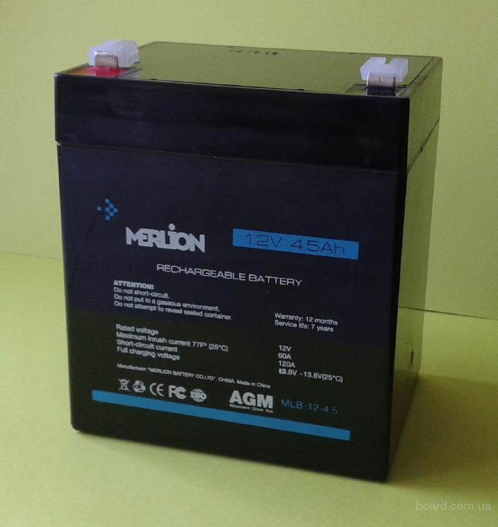 свинцово-кислотный акб аккумулятор для ибп 12v 4.5ah 12в 4.5ач AGM Merlion