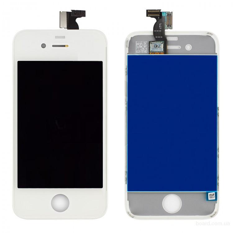 Дисплей для iPhone 4 White + touchscreen Без битых Пикселей
