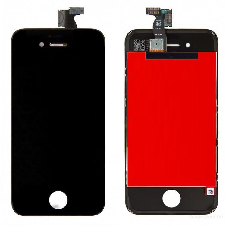 Дисплей для iPhone 4S Black + touchscreen Без битых Пикселей