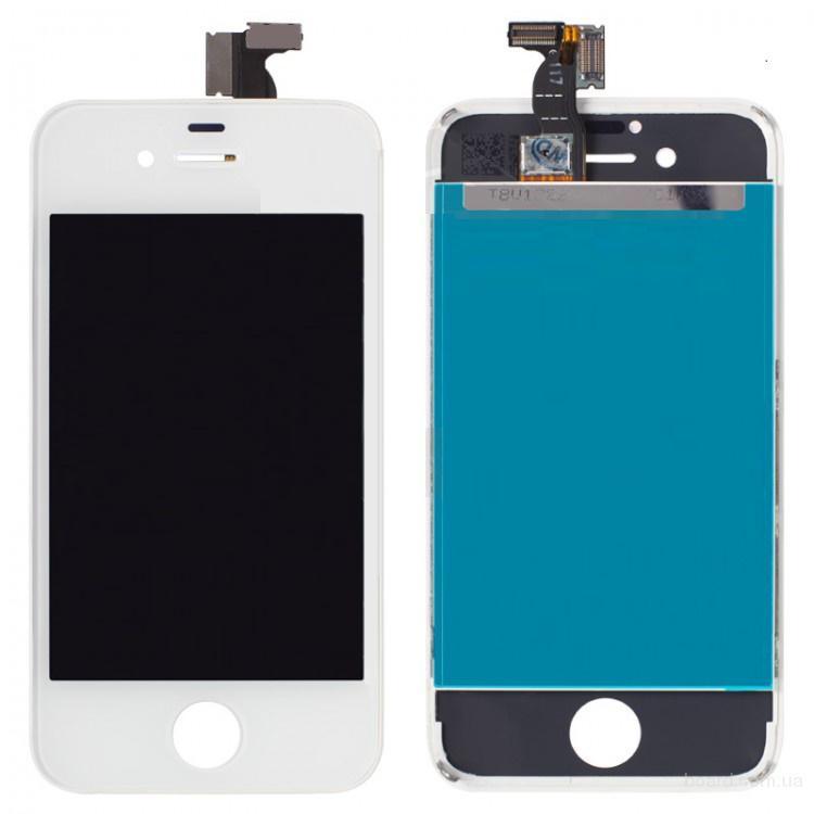 Дисплей для iPhone 4S White + touchscreen Без битых Пикселей