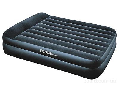 Надувная кровать Bestway 67345 Premium Double 2 Tier Air Bed 152х203х48см с внешним насосом