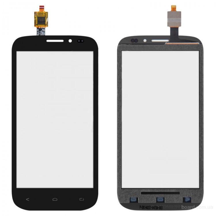 Сенсорный экран для мобильного телефона Fly IQ4404 Черный