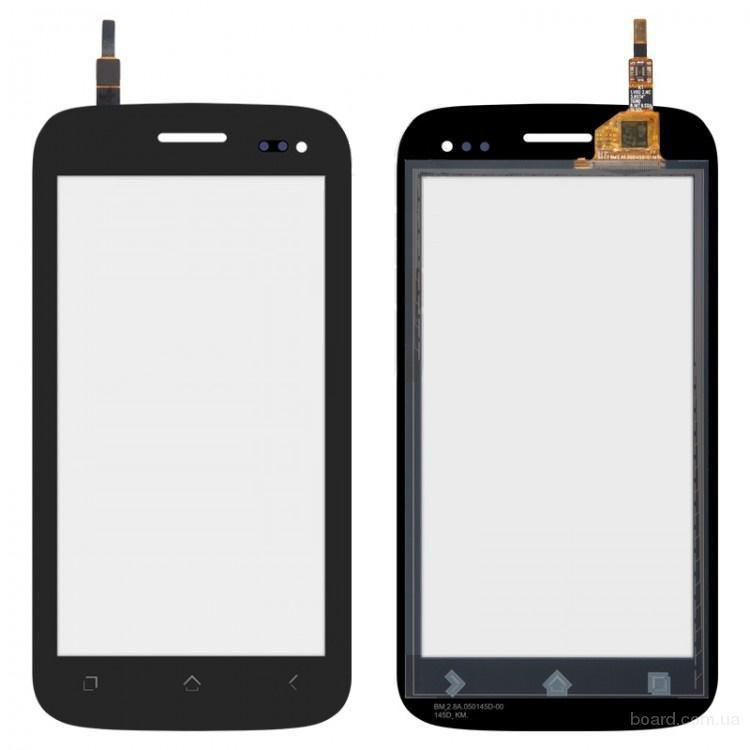 Сенсорный экран для мобильного телефона Fly IQ450 Черный Horizon ( процессор 2-ядра)