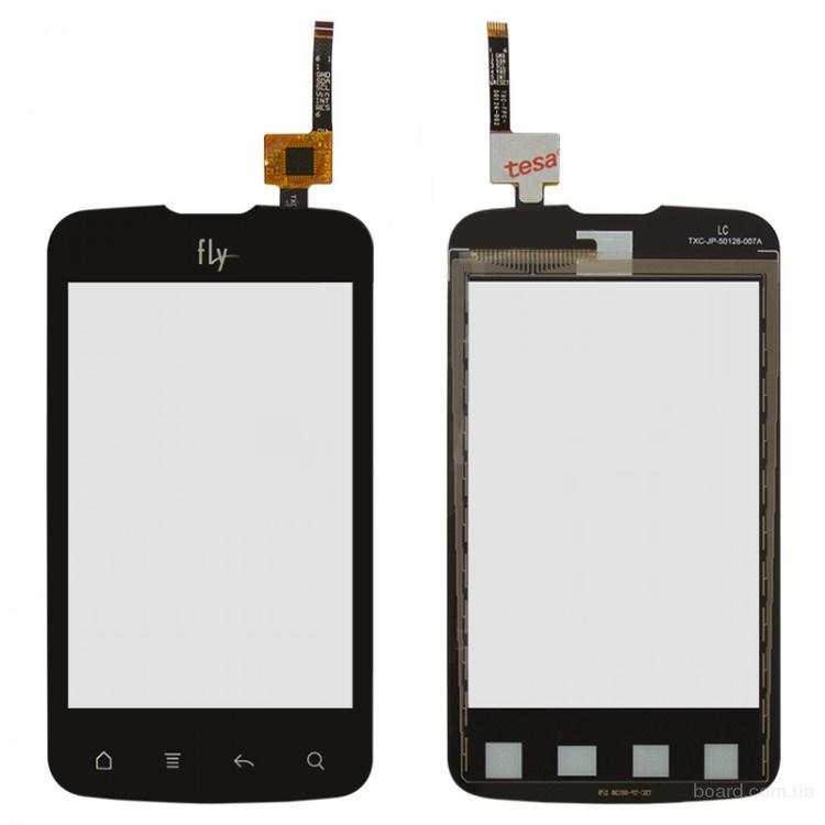 Сенсорный экран для мобильного телефона Fly IQ238 Черный