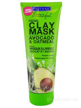 """Глиняная маска """"Авокадо, Овсяная мука"""" 175 мл Freeman"""