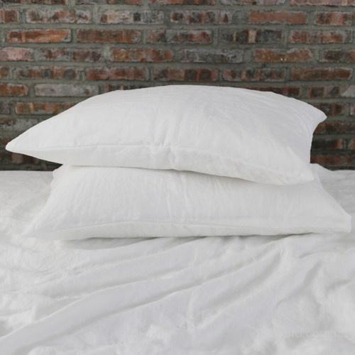 Постельное белье ЕВРО 100%лен белоснежный цвет