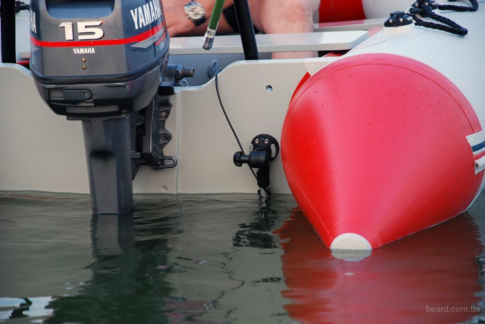 установка эхолота на лодку пвх с мотором фото