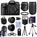 Nikon D7200 Цифровые зеркальные камеры + 4 объектива Комплект: 18-55 VR + 70-300 мм + 32GB комплект