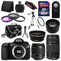 Canon EOS 60D SLR камера + 4 объектива Комплект 18-55 IS + 75-300 мм + 32GB полной стоимости комплект