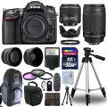 Nikon D7100 Цифровые зеркальные камеры + 4 объектива Комплект: 18-55 VR + 70-300mm + 32GB Bundle