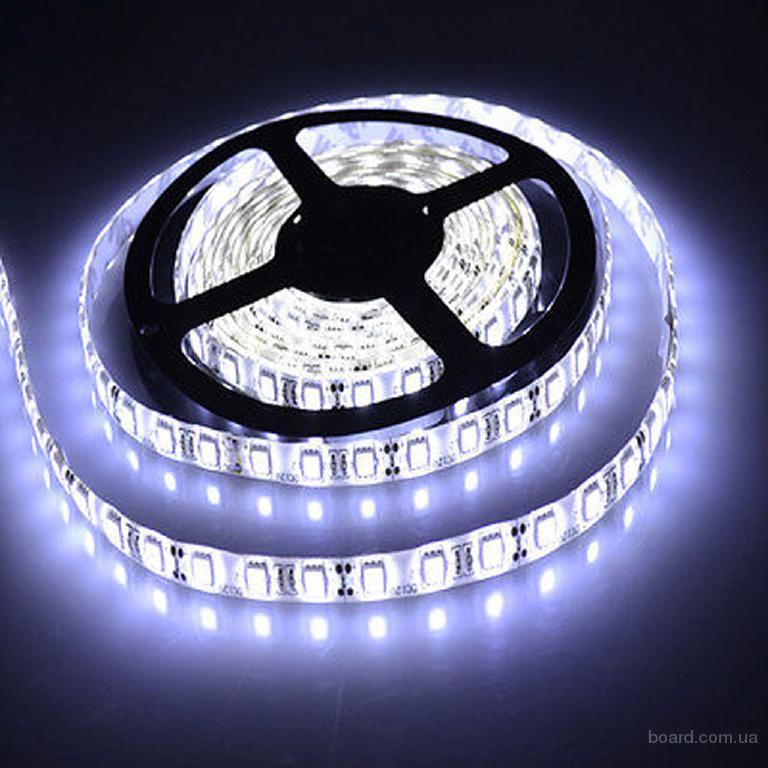 Светодиодная лента на smd светодиодах 3528, 60 светодиодов на метр, в катушке 5 метров