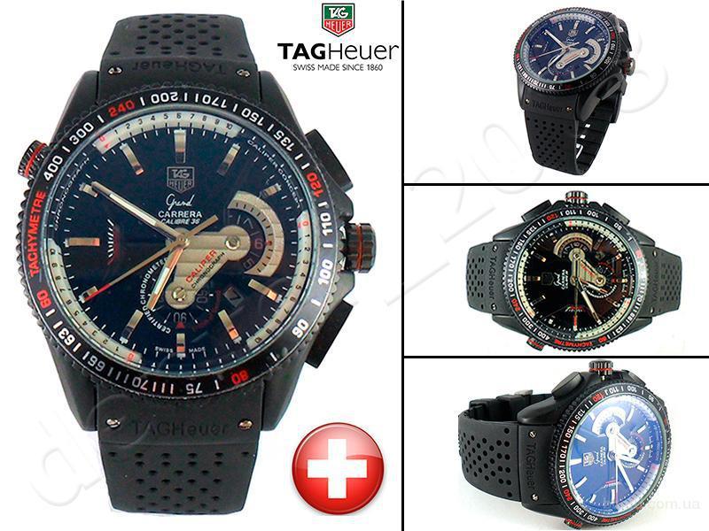 Механические часы Tag Heuer Grand Carrera Black