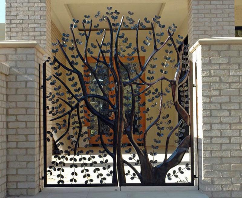 Варианты ворот для дома чертеж откатных консольных ворот проем 6 метров