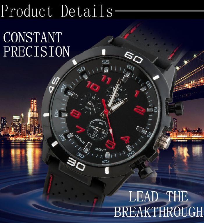 Приобретайте прекрасные спортивне мужские часы Grand Touring F1 по самой выгодной цене! Есть во всех цветах что на фото! Циферблад сделан с нержавеюще