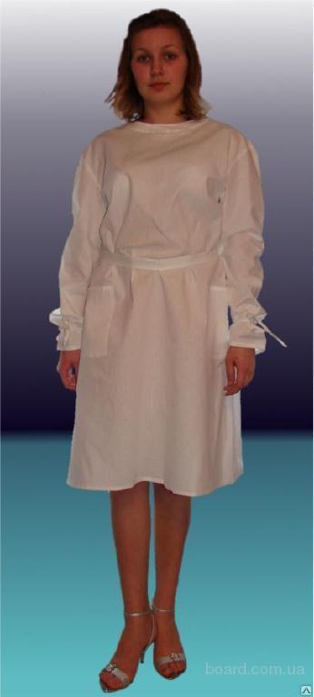 Халат хирурга бязь белая