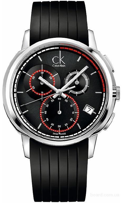 Лучшие цены! CK Calvin Klein стильные швейцарские часы-хронографы