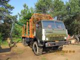 Лесовоз на базе Камаз 4310 с прицепом Гкб 8350 , в комплекте..