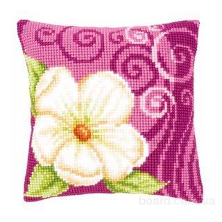 """Подушка для вышивки ''Большой кремовый цветок"""""""
