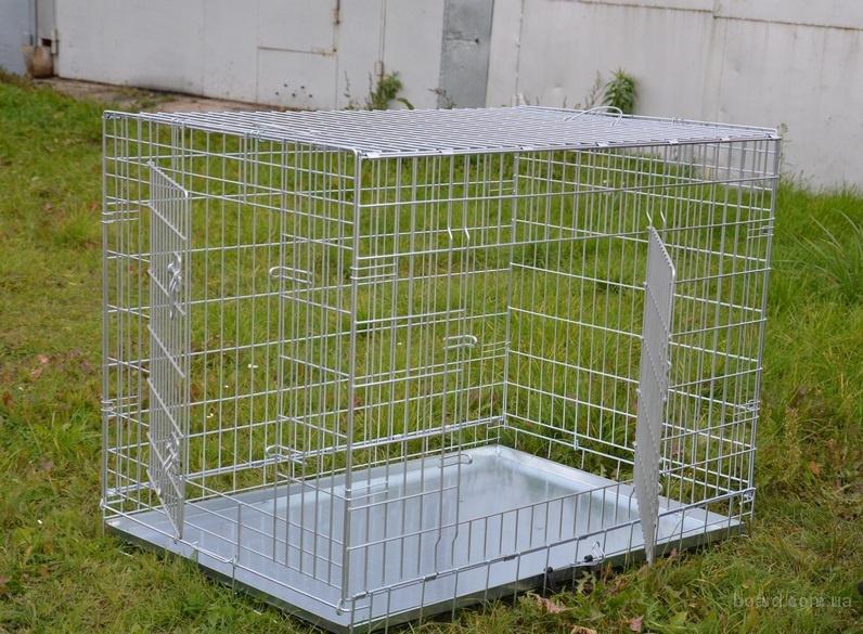 Клетка для собак средних и крупных пород 92х63х72 см (2 двери)