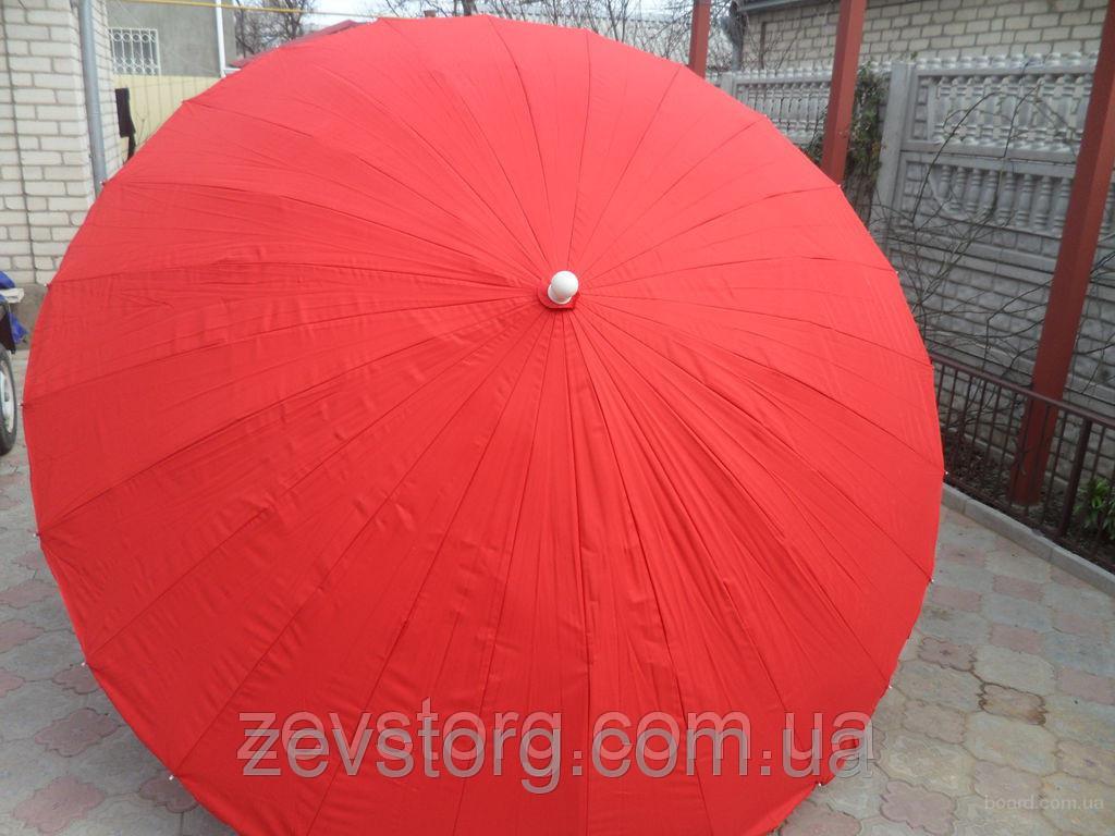 Плотный зонт с прочной тканью и клапаном