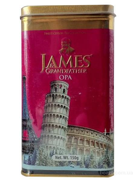 """Чай чёрный листовой James Grandfather """"OPA"""", 150 гр. ж/б."""