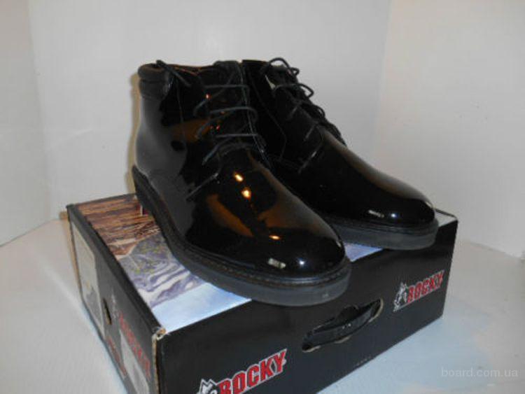 Ботинки офицерские черный лак кожаные  Rocky 500-8  (Б – 207) 47 – 48 размер