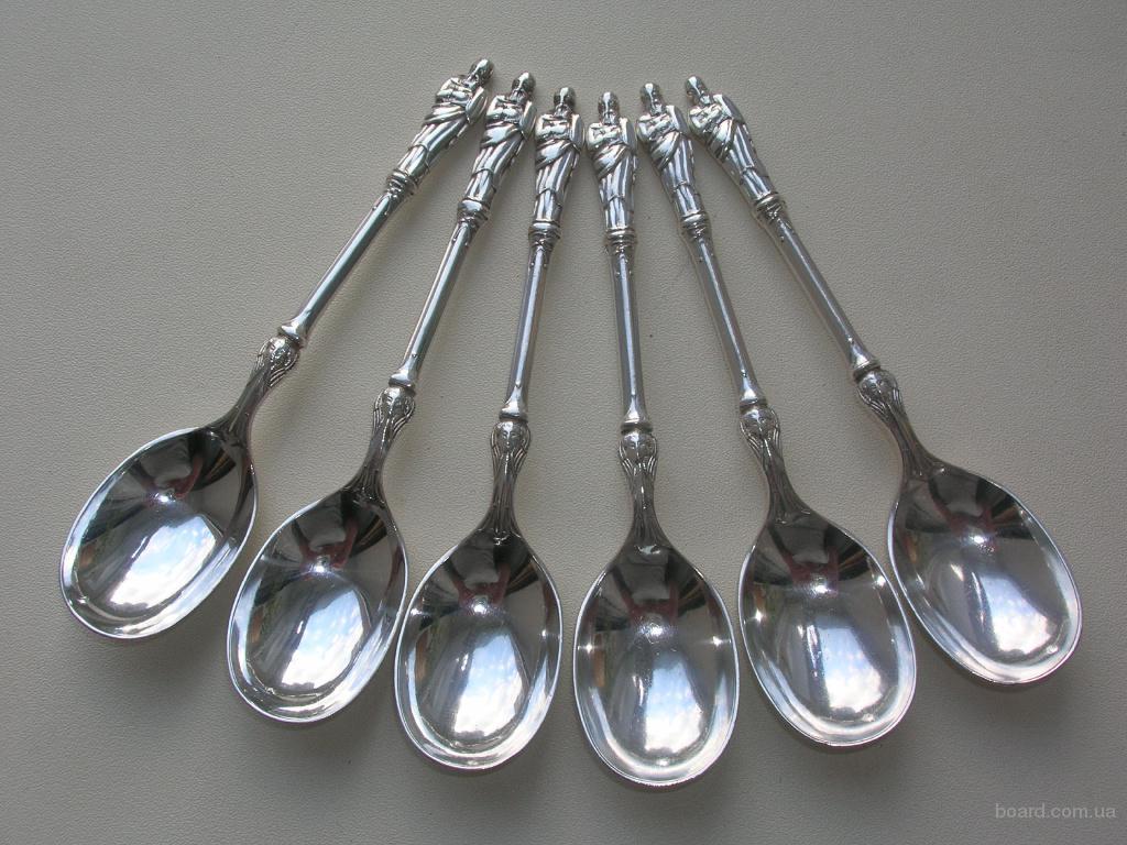 Апостольские ложки с ангелами 1892 год. Серебро 925 пробы (sterling silver). Англия